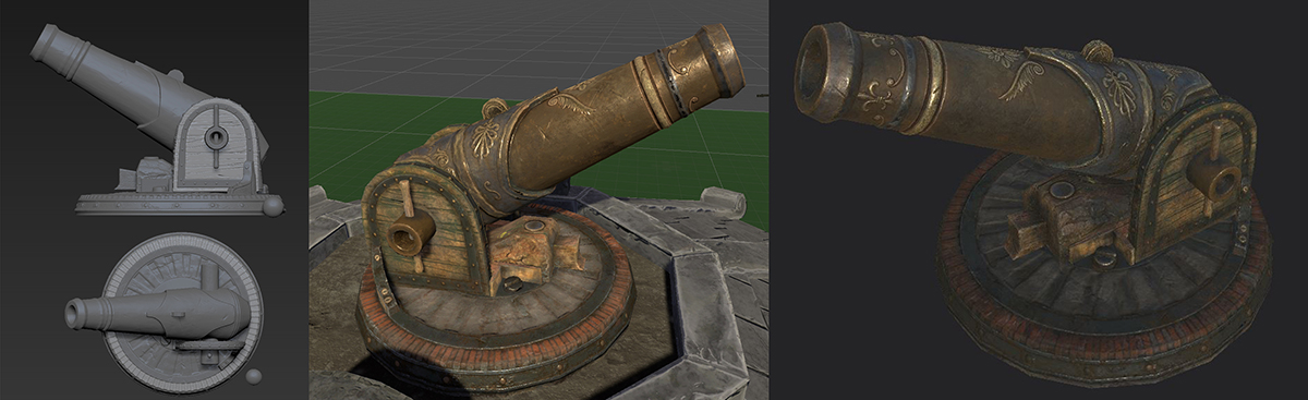 Cannon texturé