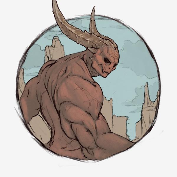 Hellfire Demon Lineart