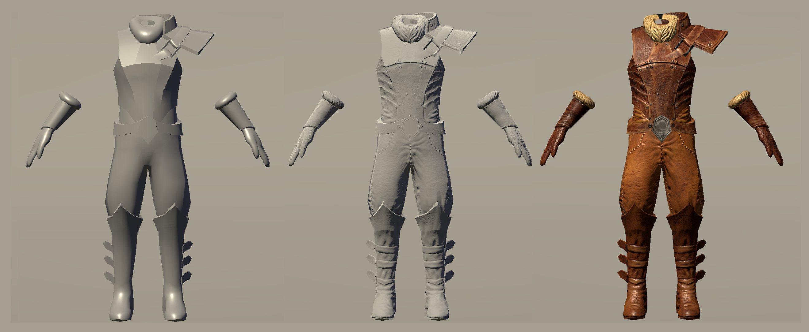 Leather Armor Low Poly To Completed